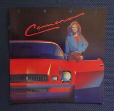 1981 Chevrolet CAMARO Only Color Sales Brochure - Original New Old Stock