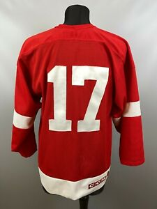 DETROIT RED WINGS BRETT HULL NHL HOCKEY JERSEY SHIRT CCM ADULT SIZE M