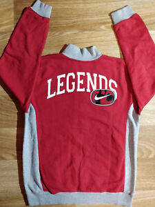 Nike Legends Vintage Womens Tracksuit Top Jacket Burgundy Gray Boxing GYM