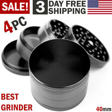 4 Piece Herbal Alloy Metal Chromium Crusher Tobacco Herb Spice Grinder NEW