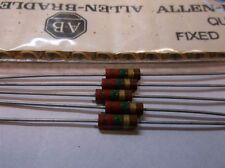 5 Allen Bradley Carbon Comp Resistor 2.2 meg 1/2W 5%