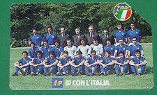 FOOTBALL TELECARTE 1992 IP CON L'ITALIA SQUADRA AZZURA CALCIO CARTA TELEFONICA