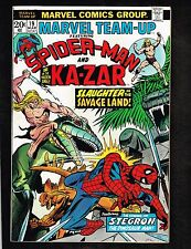 Marvel Team-Up #19 ~ Spider-Man & Ka-zar/ Stegron ~ 1974 (8.5) WH