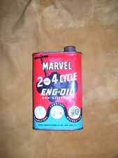RARE,RARE MARVEL 2 & 4 cycle oil can with or w/o product    U DONT HAVE THIS ONE