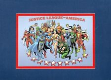 JUSTICE LEAGUE Of AMERICA - FAMILY PHOTO PROFESSIONALLY MATTED PRINT DC