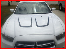 DODGE CHARGER HOOD SCALLOP INSERTS 2011 2014 STRIPE FACTORY DECAL GRAPHIC