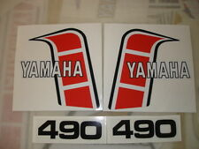 1982 YAMAHA YZ490 EURO Model Tank And Side Panel Decals