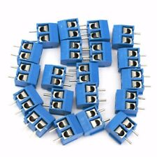 40pcs Blue 2-Pin Screw Terminal Block Connector 5.08mm Pitch Panel PCB Mount