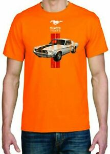 Adult DryBlend® T-Shirt - ( MUSTANG 50 YEARS RED HOT ROD - FORD )