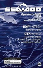 Sea-Doo Owners Manual Book 2004 GTX 4-TEC SERIES / LIMITED SUPERCHARGED