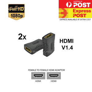 2x HDMI Female To Female Joiner Connector Extender Coupler Adapter 1080P HDTV