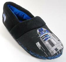 NEW Boys Toddler Star Wars  R2D2 Black Slippers Shoes SZ 7/8