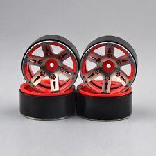 "1.9"" 26mm 1/10 Scale RC Model Car Wheel Rims Metel Aluminium Alloy Red 4PCS"