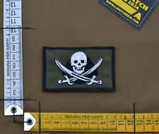 "Ricamata / Embroidered Patch ""TF45 Jolly Roger"" OD with VELCRO® brand hook"