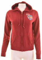 HOLLISTER Womens Hoodie Sweater Size 14 Large Maroon Cotton  GR19