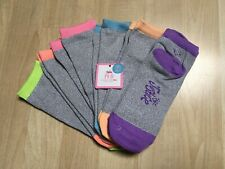 NEW JUSTICE oh-so Soft PED 6 Pairs Low Cut Girl Socks