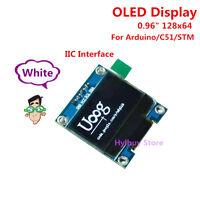 "White 0.96"" I2C IIC 3.3v 5v 128X64 OLED LCD Display Module For Arduino Stm32 C51"