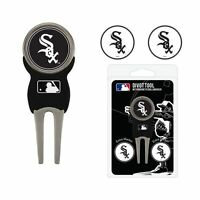 Chicago White Sox MLB Team Golf Divot Tool with 3 Magnetic Ball Markers