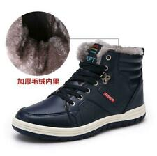 Men's Outdoor Winter Fur Lining Sneaker High Top Casual Pu Leather Snow Boots @