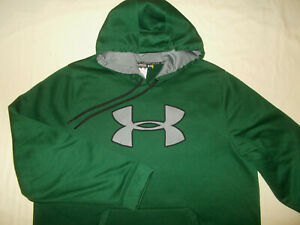 UNDER ARMOUR STORM DARK GREEN HOODED SWEATSHIRT MENS 2XL EXCELLENT CONDITION