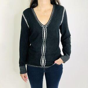 Essendi 3D Space Dye Silk Pullover Scoop V-Neck Sweater S/M 3 Womens Vintage?