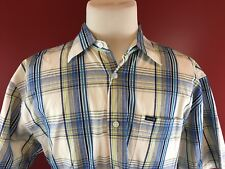Enyce Plaid Button Front Short Sleeve Shirt Mens Large a Sean Combs Co