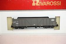 H0 Rivarossi 2415 offener Güterwagen Eaos SBB-CFF grau OVP gebraucht