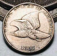 1857 Flying Eagle Cent One Penny 1C Ungraded Civil War Good Date US Coin CC7130