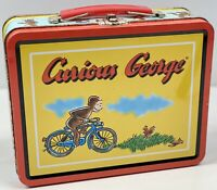 Limited Edition - Curious George Metal Lunch Box - Collectible Tin Tote - RARE