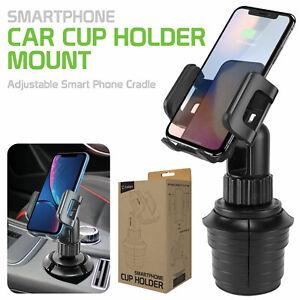 360 Adjustable Car Cup Phone Holder Mount Cradle - Samsung Galaxy Apple iPhone