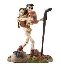 "Dept. 56 Snow Village Halloween ""Boneaventure"" ~ Great Hiking Skeleton ~ Retired"