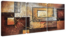 Wall Art 3 Piece Canvas Framed Abstract Modern Print Picture Home Decor Panels