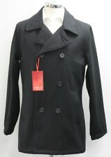 Men's Carter & Jones Double Breasted Black Wool Peacoat (M).. sample 2796