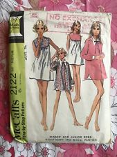 MCCALL'S 2122 sewing pattern 1969 COMPLETE vintage Misses Nightgown Bikini 1960s
