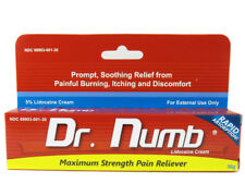 Dr Numb Topical Anesthetic Cream Pain Reliever for Tattoo Piercing Laser 30g