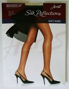 Hanes size AB Silk Reflections Navy reinforced toe 2003 style 716