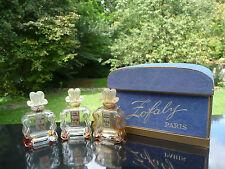3 Flacons Anciens ZOFALY - Coffret - Parfum - Vide - Perfume Bottle