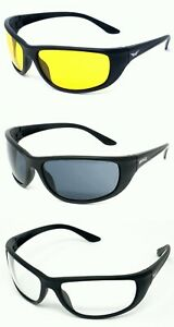 Unbreakable Motorcycle Sunglasses Military Ballistic Grade Biker Glasses & Pouch
