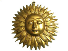"7"" SUN FACE Brass Wall Hanging For Luck in Business and Life"