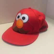 Sesame Street Elmo Baseball Cap Hat 100% Cotton Snap Back Embroidered Red