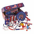Patriotic Treasure Chest Assortment - Toys - 101 Pieces
