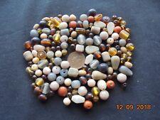 Job lot 100 grams brown/beige glass beads mix