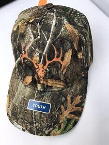 Field & Stream YOUTH  Kids Tonal Deer Adjustable Fit Black Hat OSFA