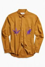 Urban Outfitters Soulland Davis Tencel Embroidered Button Down Shirt Small New