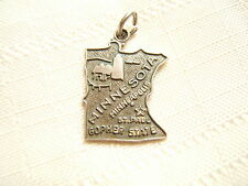 New listing Vintage Sterling Silver Charm Map Of Minnesota