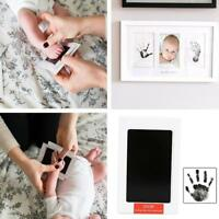 Black Ink Pad Inkpad Rubber Stamp Finger Print Craft Non-Toxic Baby Safe