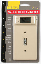 Plate Pals  1 gang Ivory  Plastic  Toggle  Wall Plate Thermometer  1 pk