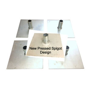 Scaffold Tower Base Plates - Zinc Plated for Corrosion Rust Resistance 4- 48 off