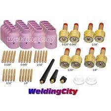 "58-pcs TIG Torch Accessory Kit Large Gas Lens 040~1/8"" 9/20/25 TAK48   US Seller"