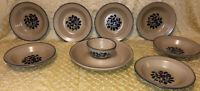 Pfaltzgraff Folk Art Pottery Serving Set Lot Of 9